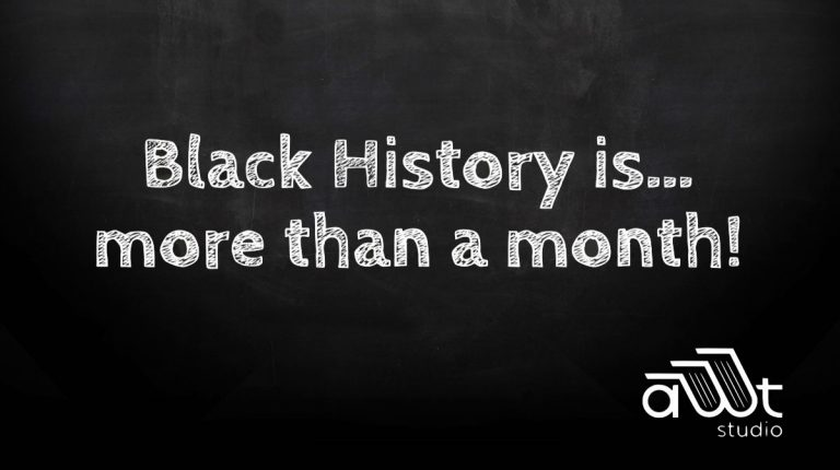 chalkboard with the words written on it, Black History is more than a month!
