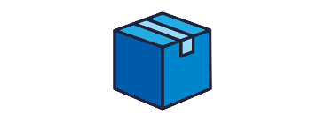 illustration of a blue shipping box