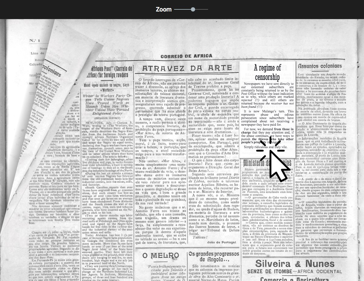b&w image of an old newspaper front page, written in Portuguese